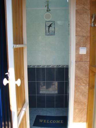 Летний душ внутри