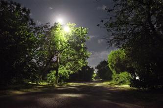 Улица Советская ночью.