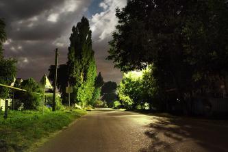 Улица Ленина ночью