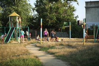 Детская площадка на улице Приморская